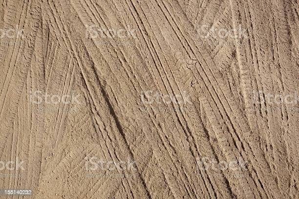 Photo of Tire Tracks in Dirt