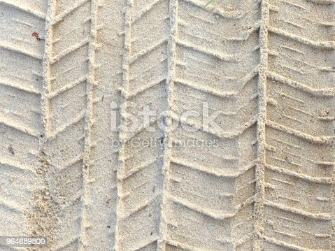 Tire Tracks On The Sand Stock Photo & More Pictures of Beach