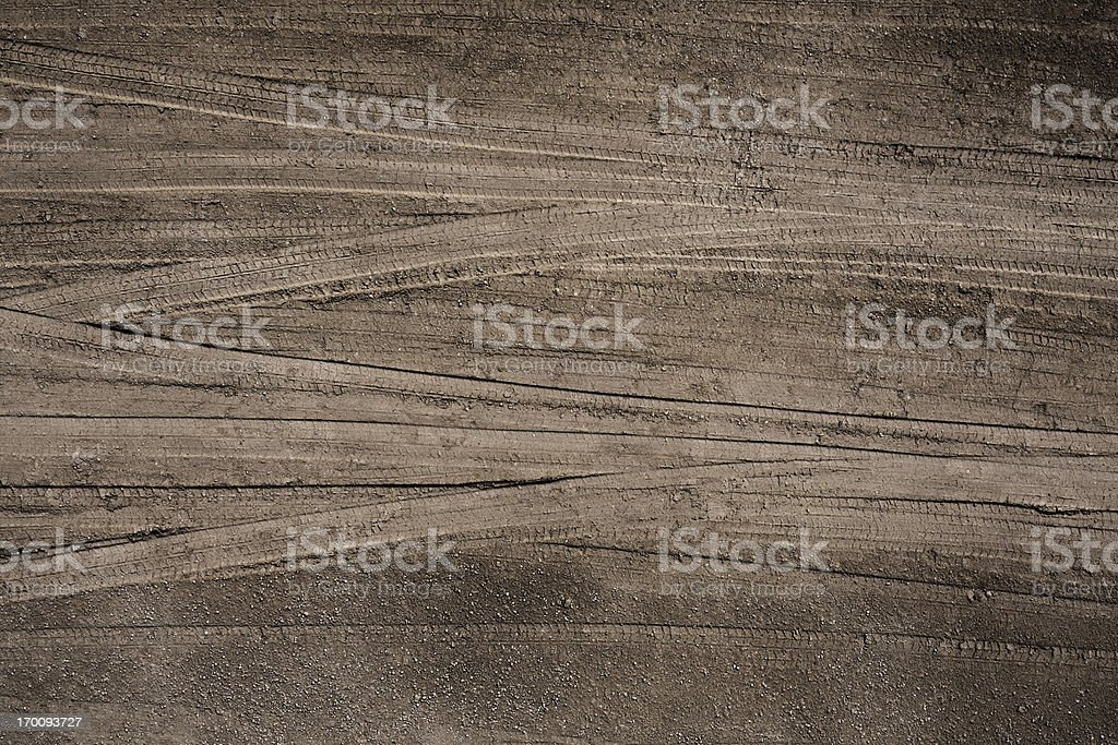 Tire Tracks stock photo