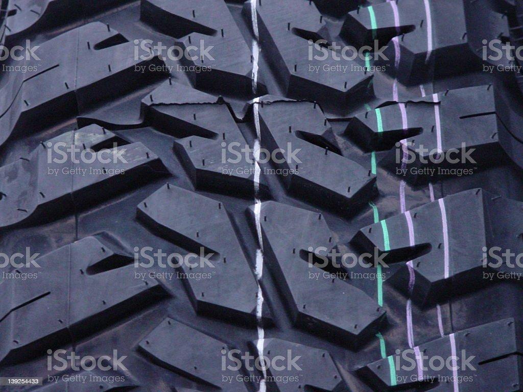 Tire Tread Closeup royalty-free stock photo