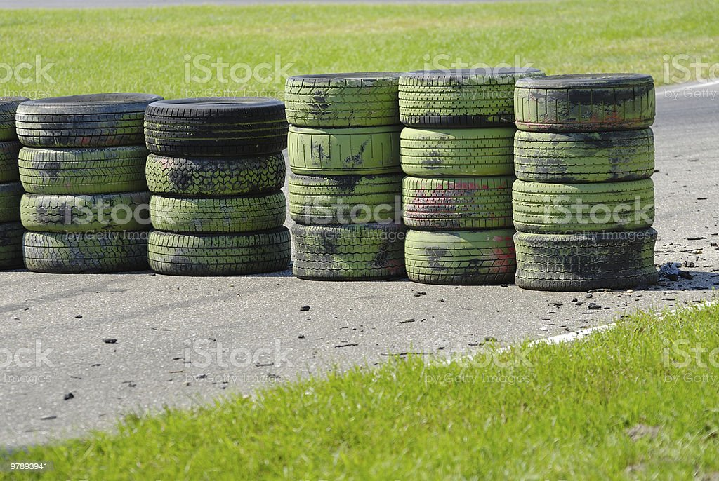 tire wall series royalty-free stock photo