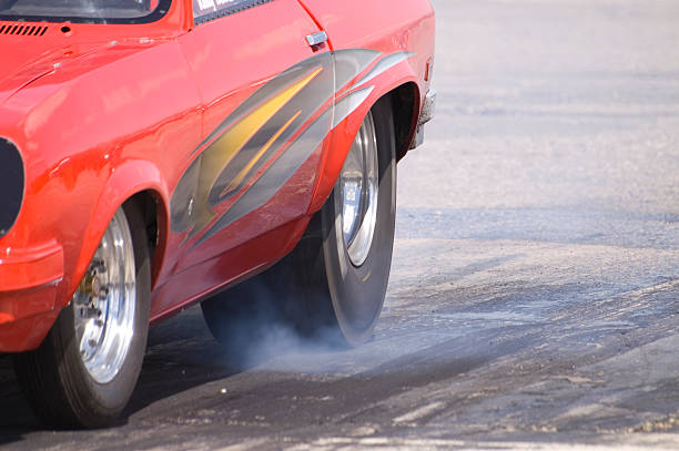 Tire-burn stock photo