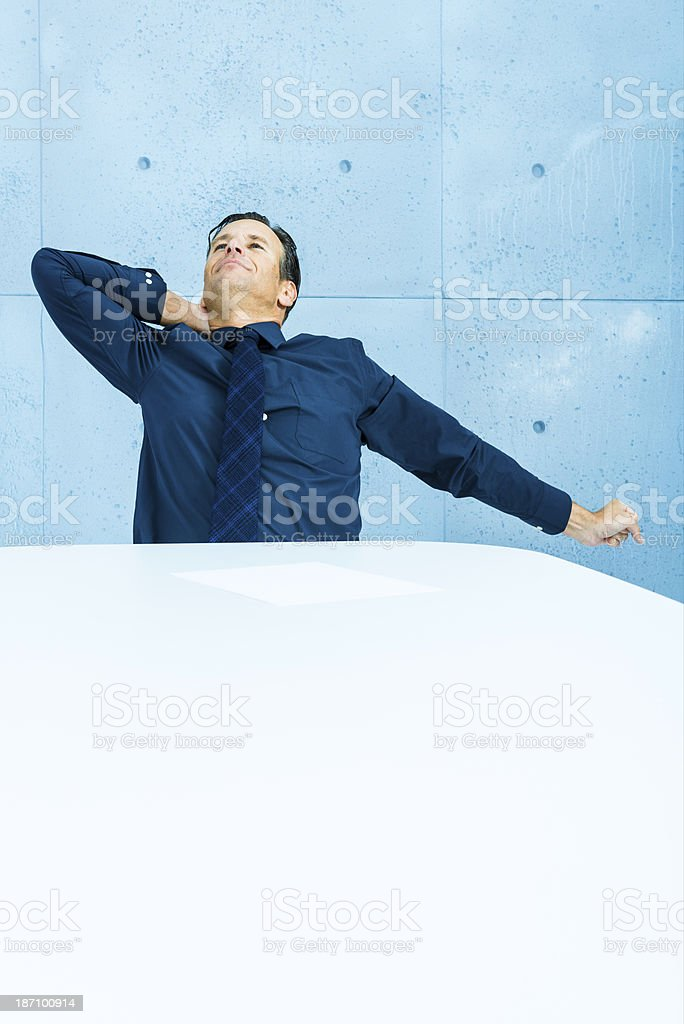 Tired after hard work in the office royalty-free stock photo