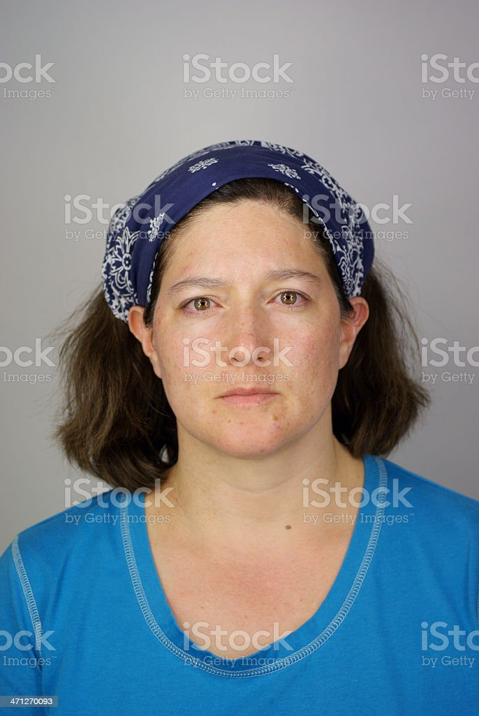 Tired American Housewife stock photo