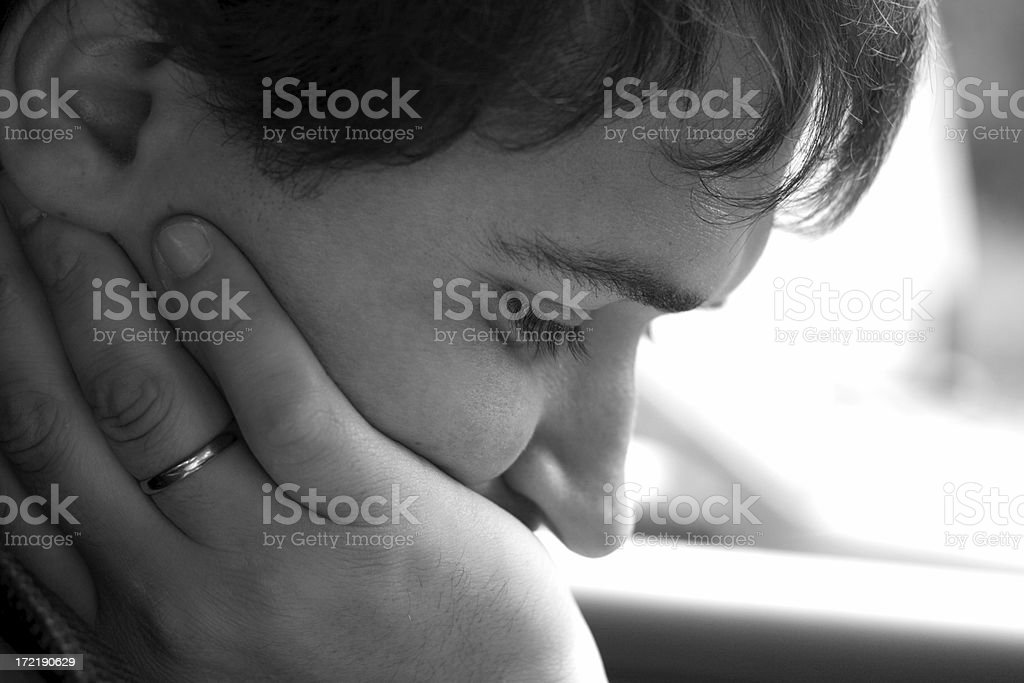Tired and depressed royalty-free stock photo