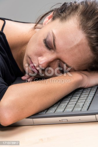 508126619istockphoto Tired and sleeping 171373917
