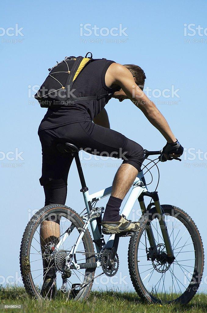 Stanco motociclista foto stock royalty-free