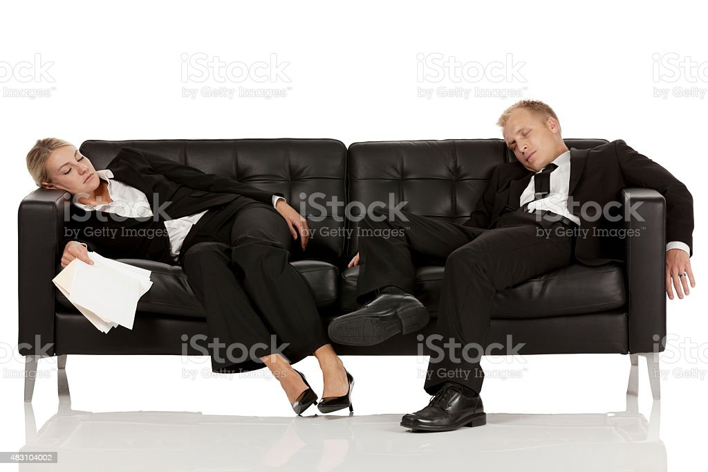 Amazing Tired Business People Sleeping On Sofa Stock Photo Unemploymentrelief Wooden Chair Designs For Living Room Unemploymentrelieforg
