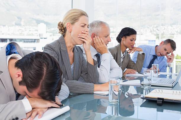 müde business team in konferenz - traum team stock-fotos und bilder
