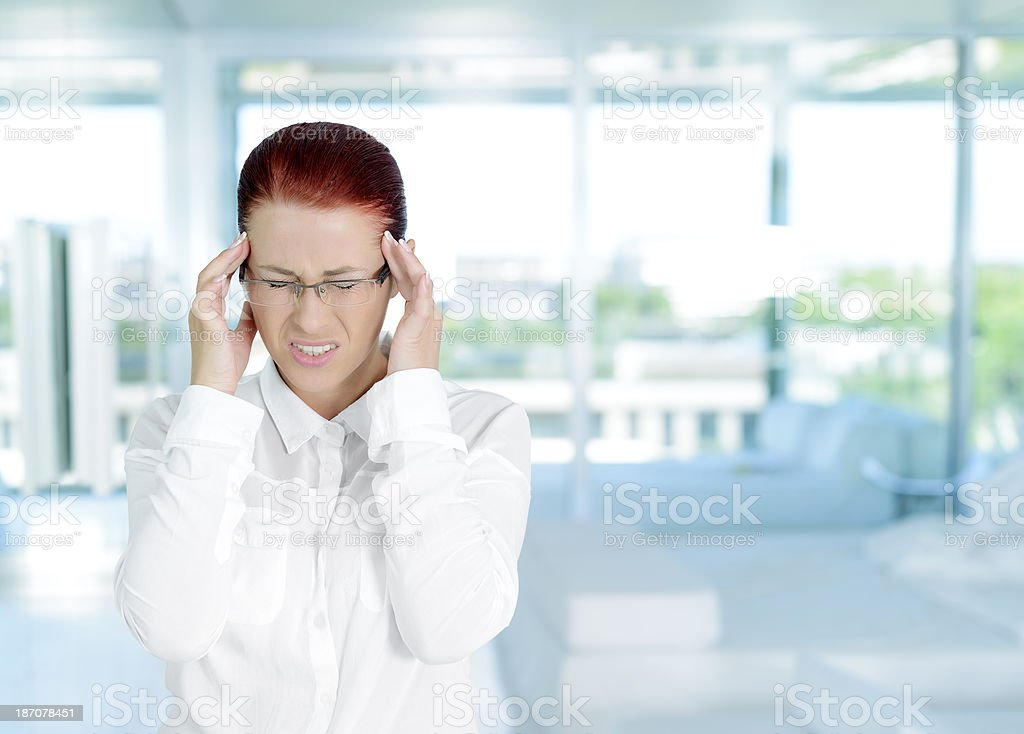 tired business woman royalty-free stock photo
