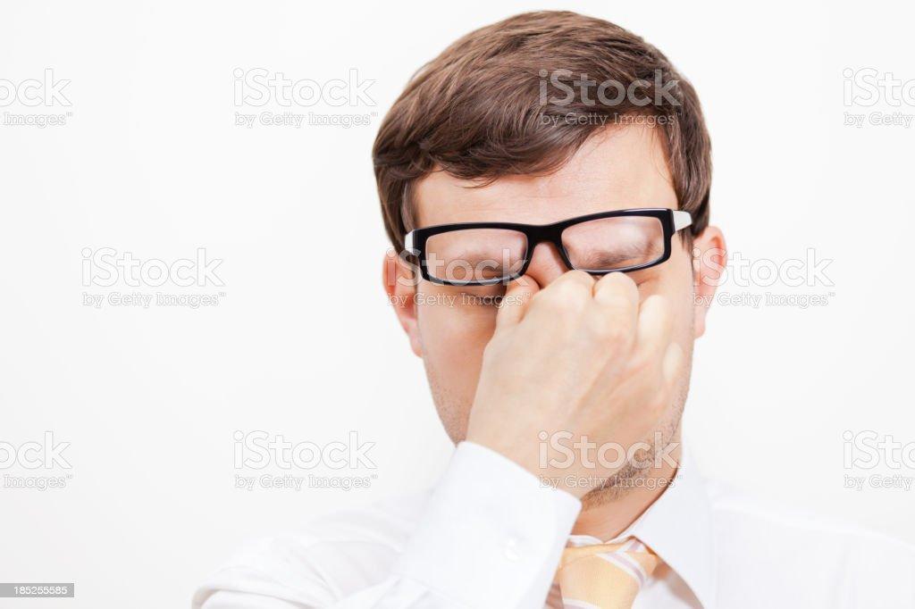 Tired Businessman stock photo