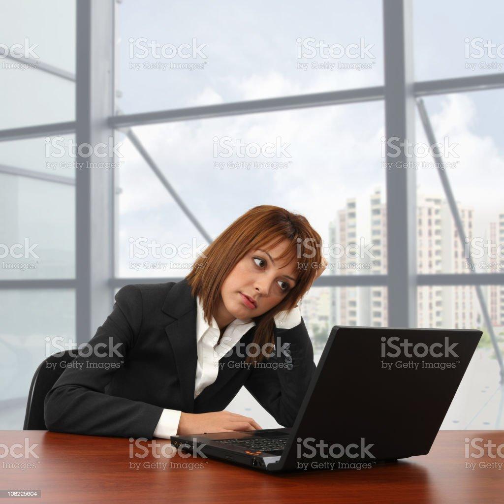Tired Businesswoman  25-29 Years Stock Photo