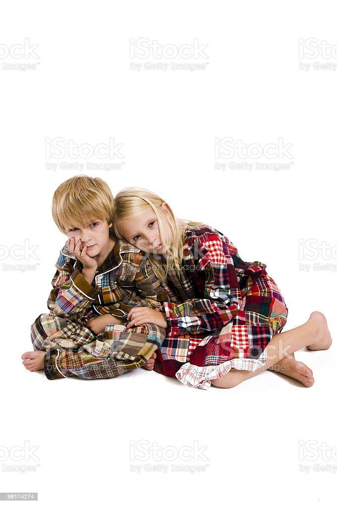 tired children royalty-free stock photo