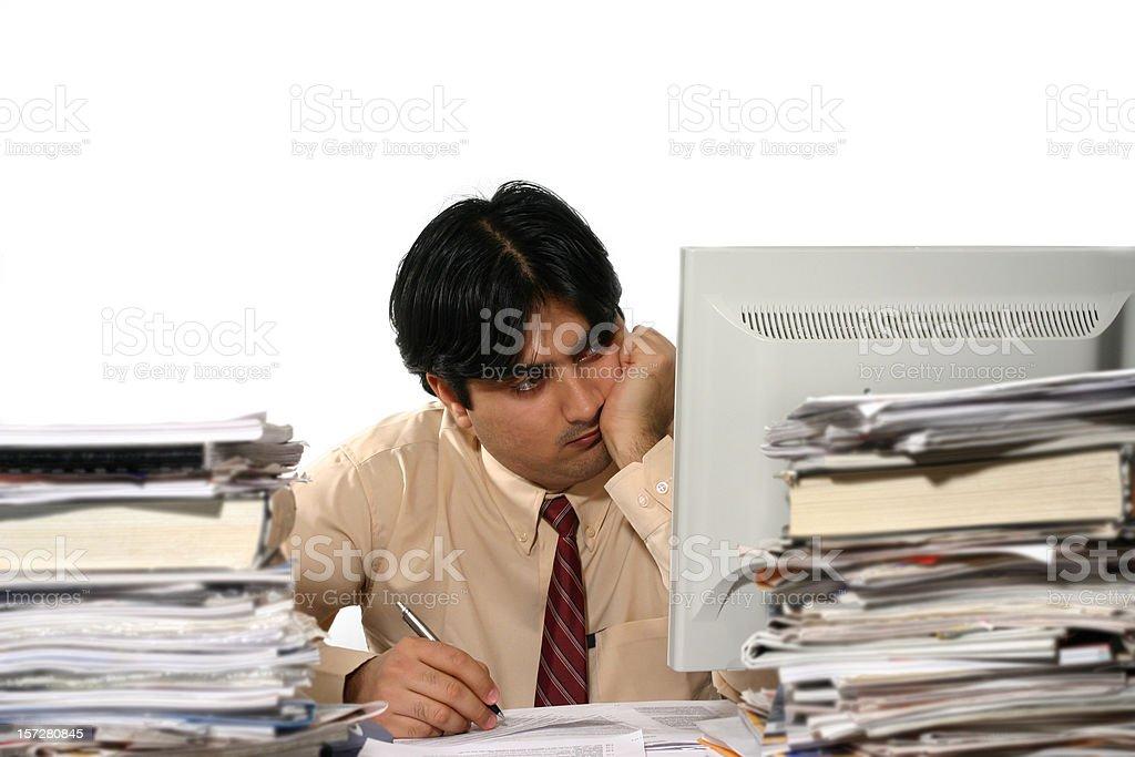 Tired Clerk 2 stock photo