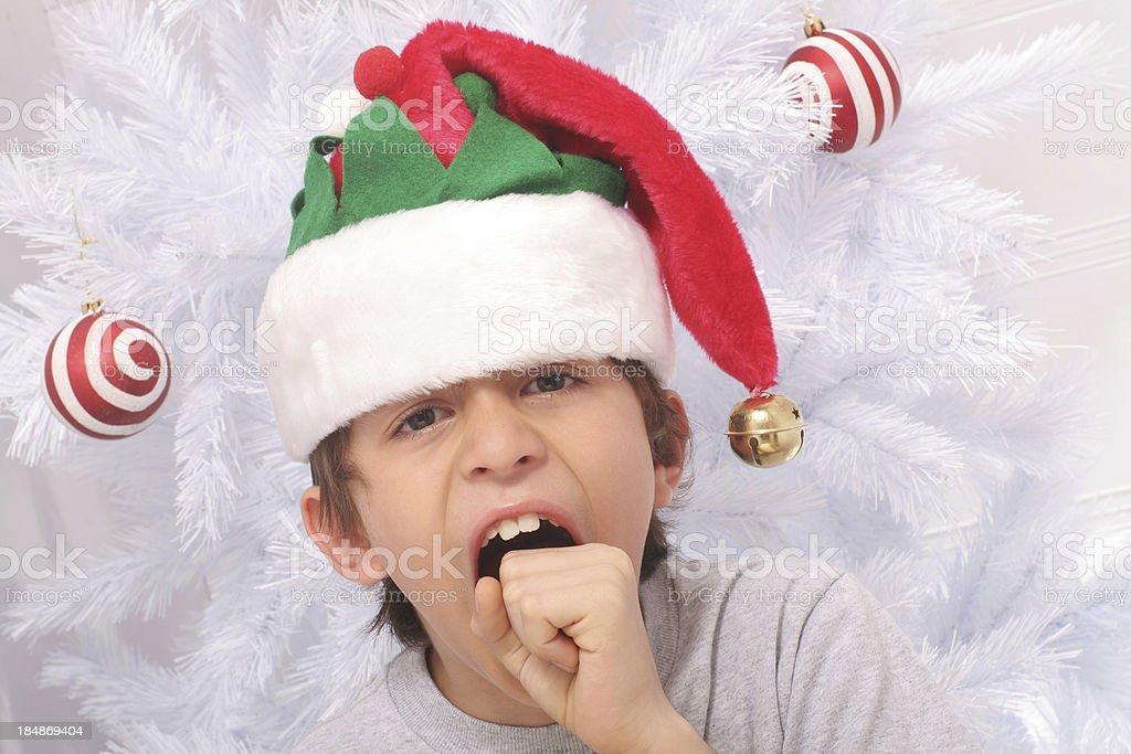 Tired Elf stock photo