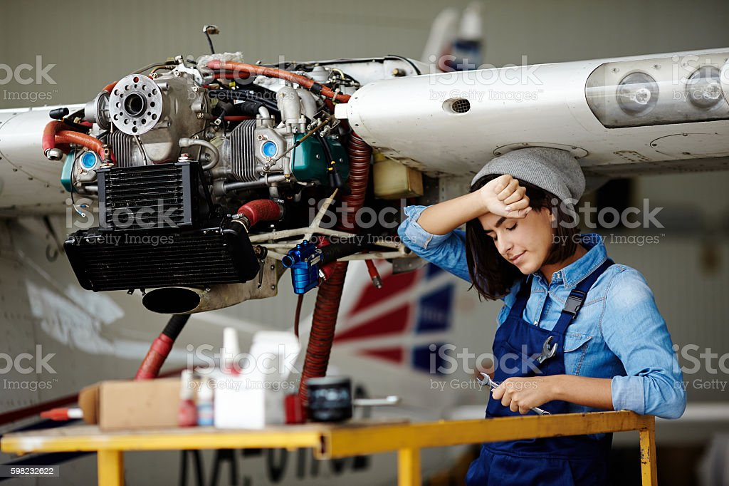 Tired Engineer Stock Photo - Download Image Now - iStock