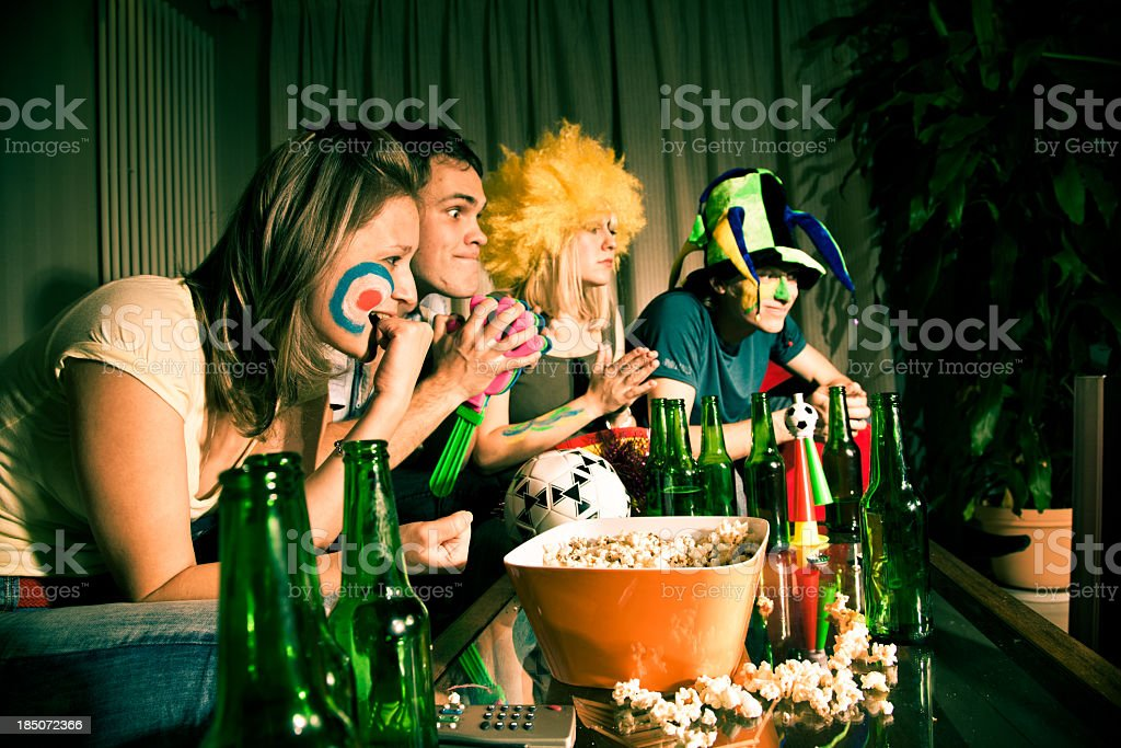 Tired fans royalty-free stock photo