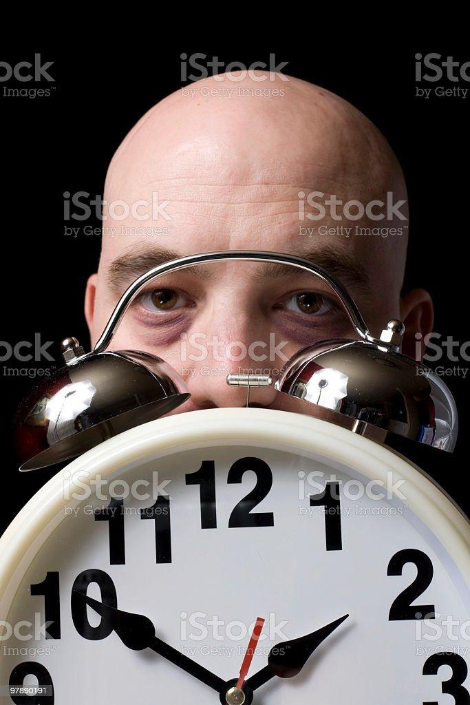 Tired Man at 1:50 AM royalty-free stock photo