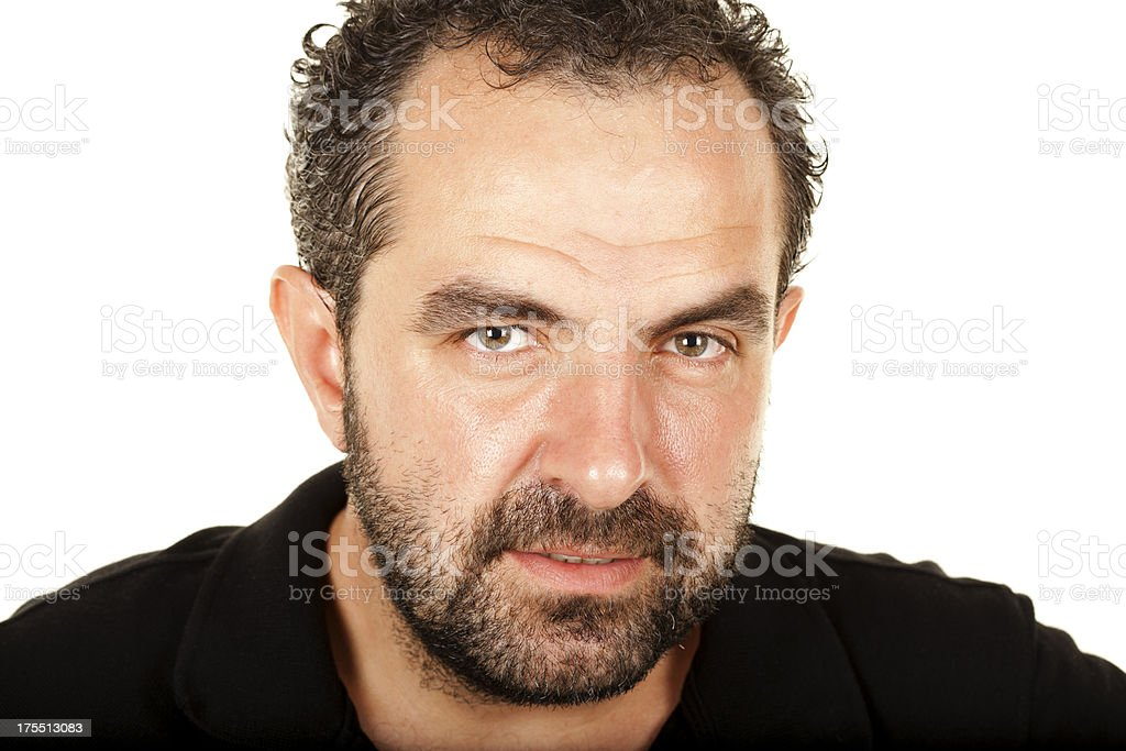 Tired man stock photo