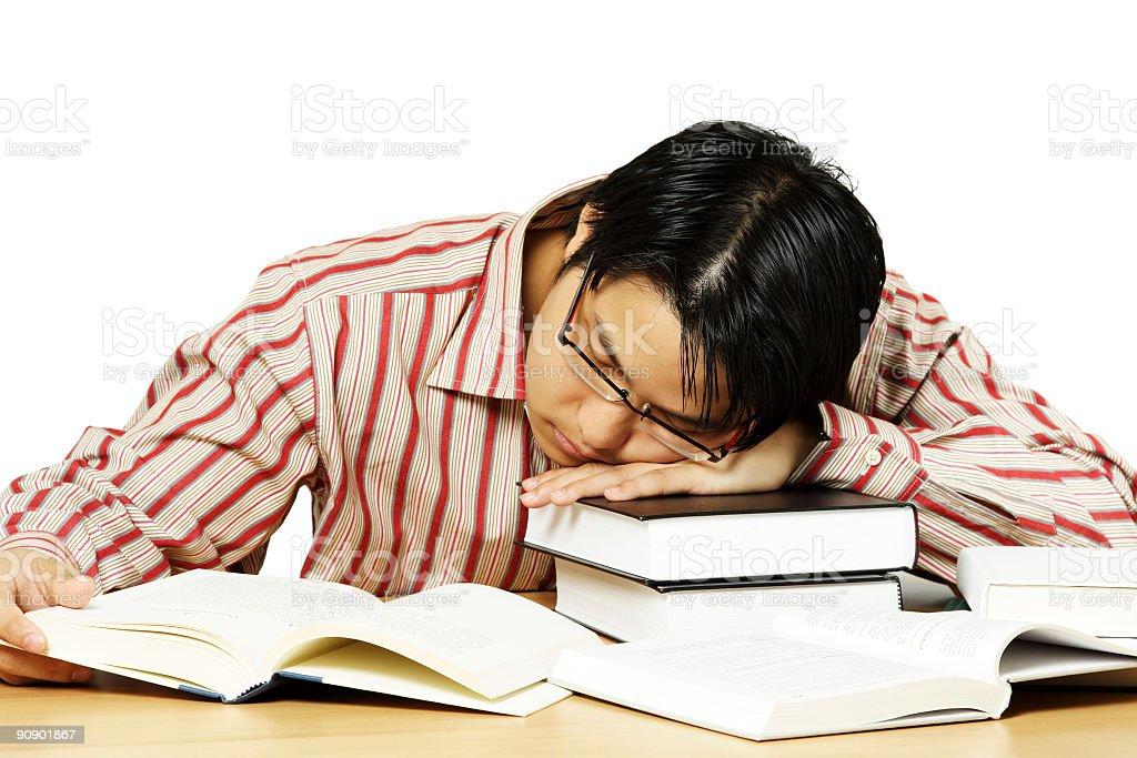 Tired man royalty-free stock photo