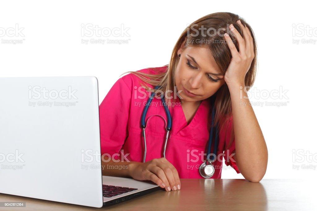 Müde Medizinstudent – Foto