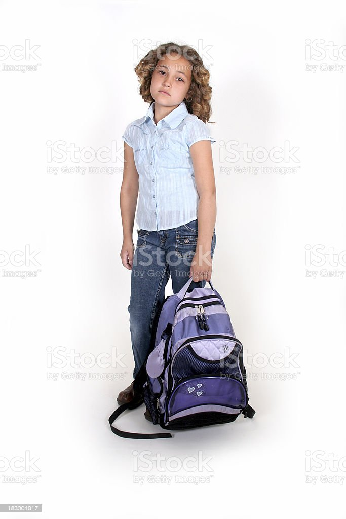 Tired of School royalty-free stock photo