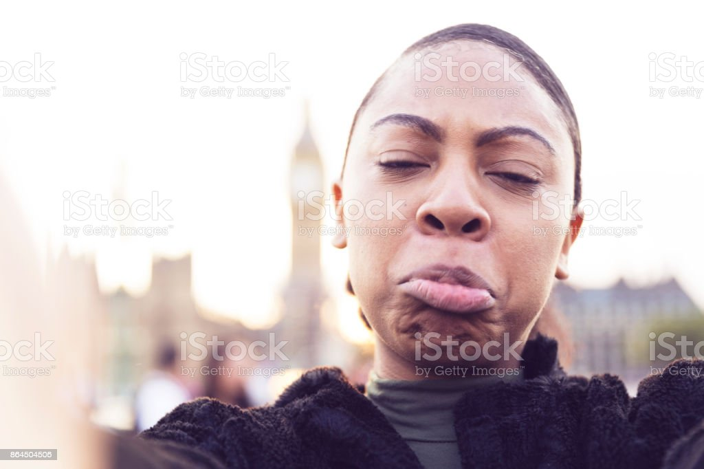 Tired of Walking And Visiting So Many Tourist Attractions in London stock photo
