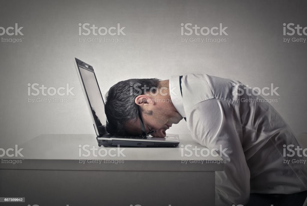 Tired of working stock photo
