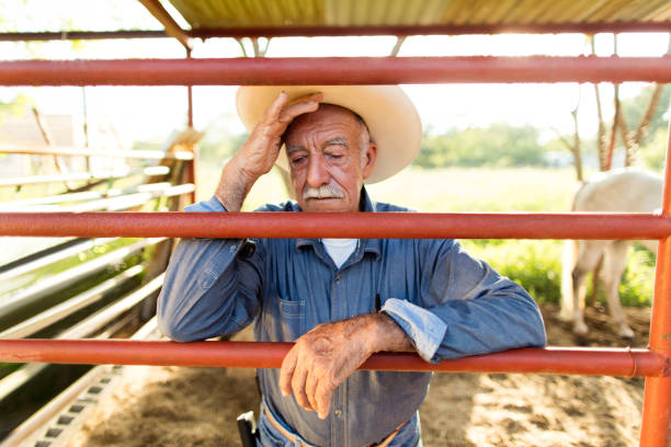 Tired senior mexican man leaning on fence of horse ranch picture id1036926876?b=1&k=6&m=1036926876&s=612x612&w=0&h=g2mtgc1tem4vexezziyod9k2xayjok7xorbxzojd6gs=
