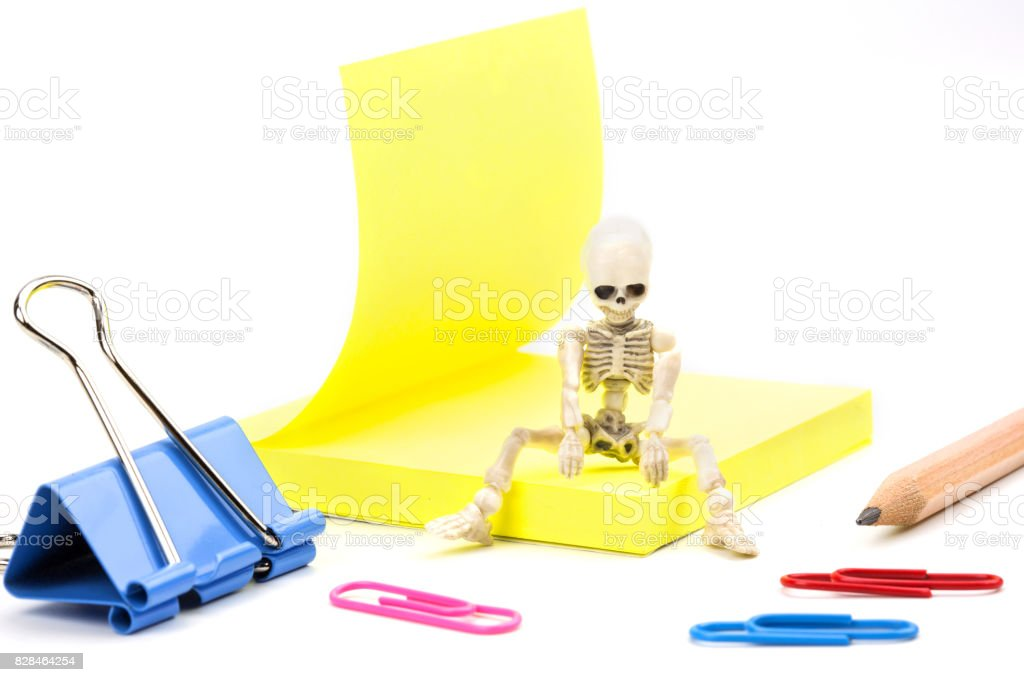 Tired skeleton stock photo