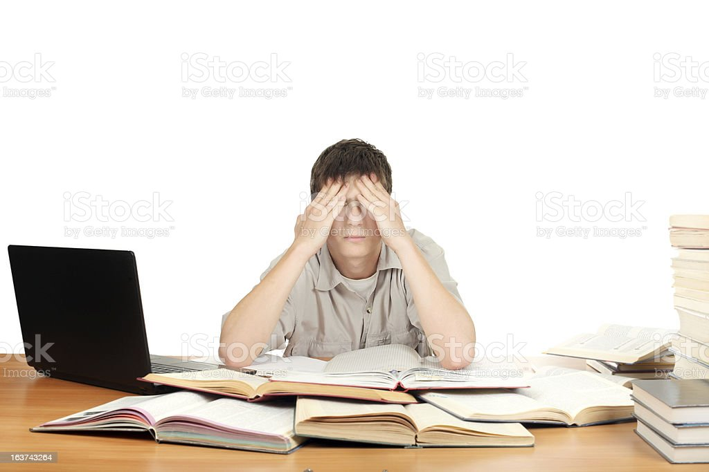Tired Student royalty-free stock photo