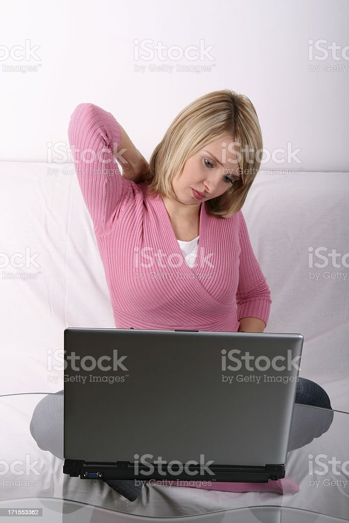 Tired with computer... royalty-free stock photo