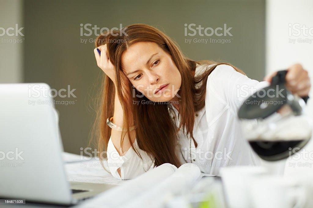 Müde Frau, Kaffee – Foto