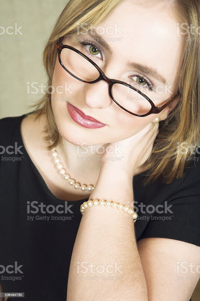 Tired woman royalty-free stock photo