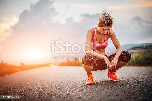 istock Tired woman 577341784