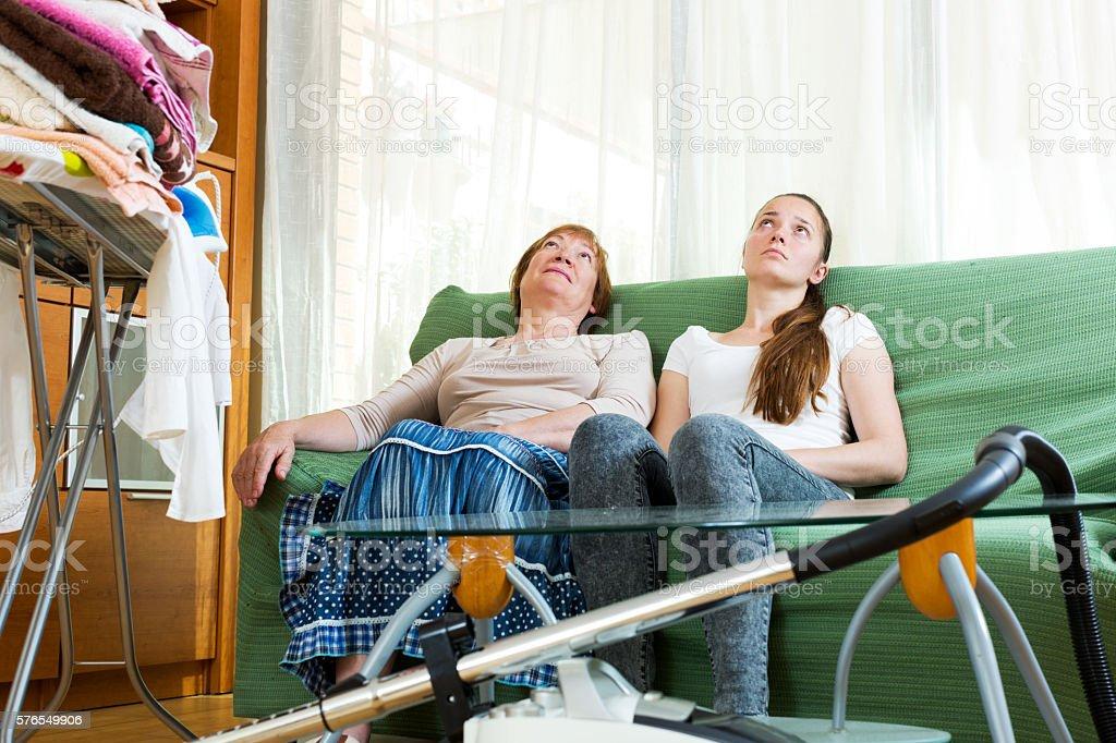 tired women stock photo