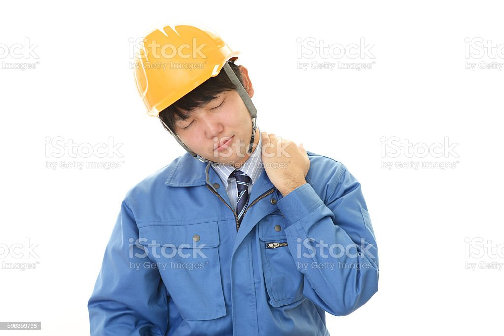 Tired worker royalty-free stock photo