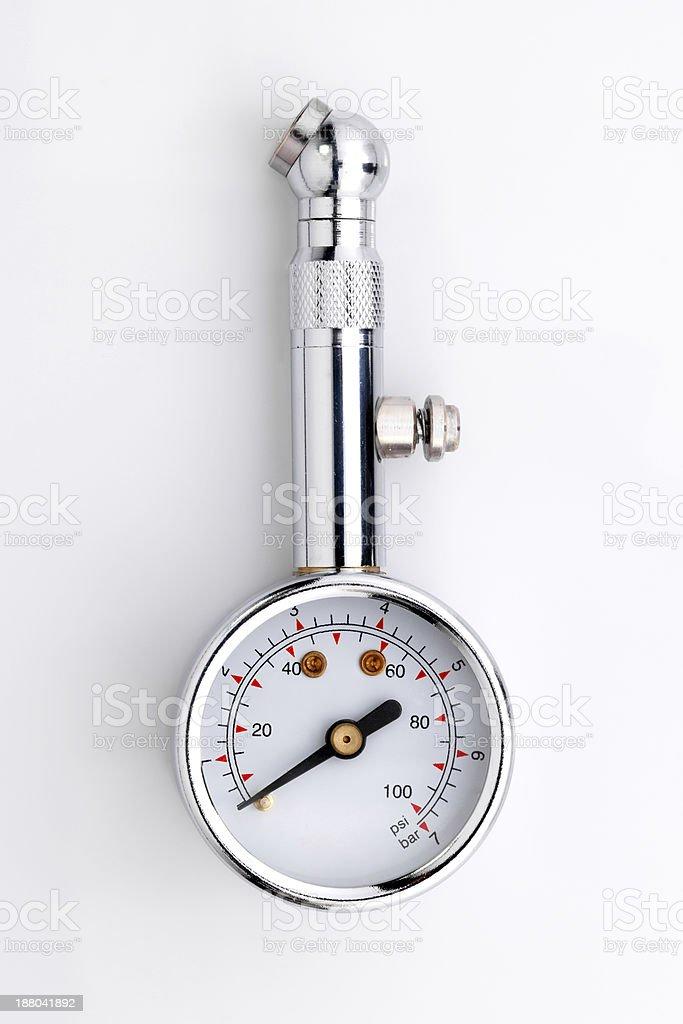 Tire-pressure gauge stock photo
