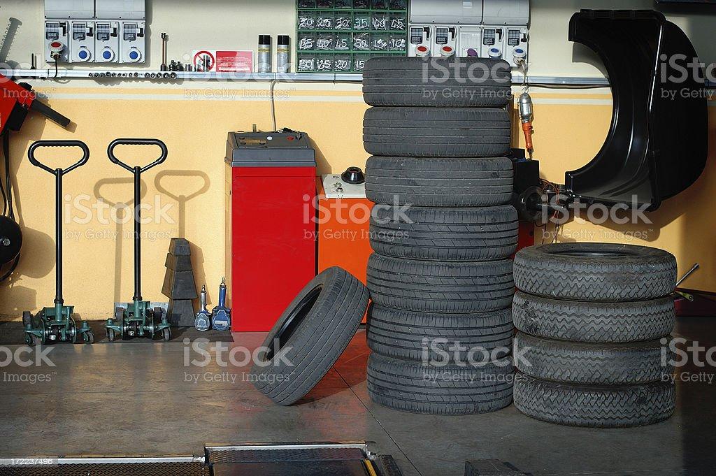 Tires Garage royalty-free stock photo