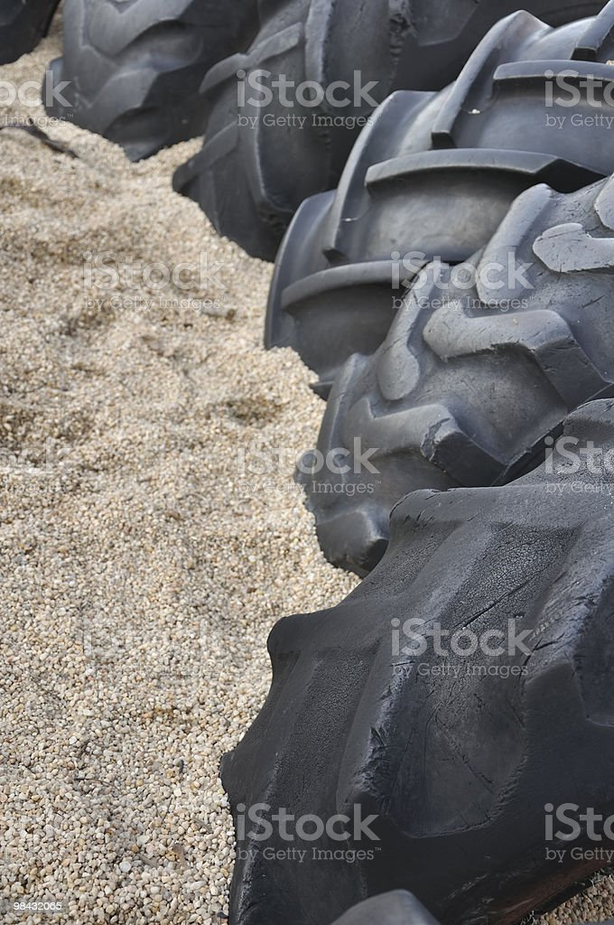 Tires in Gravel royalty-free stock photo