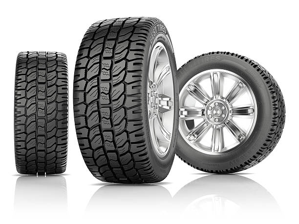 tires on white background - autolack stock-fotos und bilder
