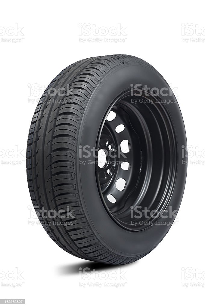 Tires on white royalty-free stock photo