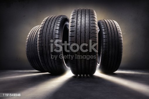 close up of  four tires