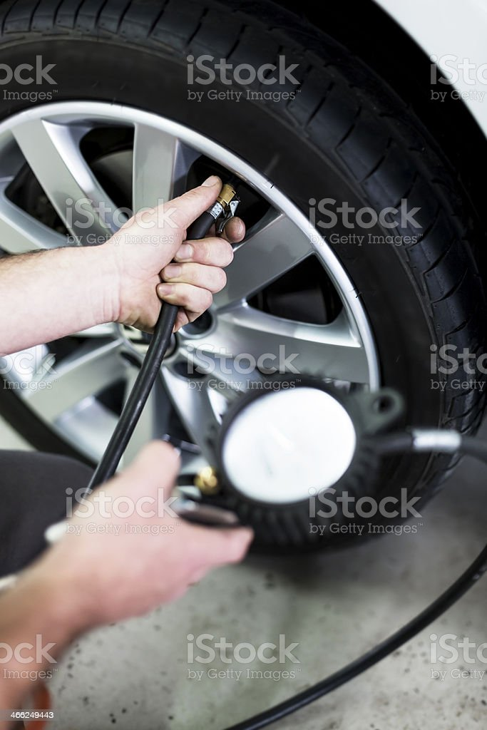 Tires pressure royalty-free stock photo