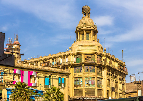 468444004 istock photo Tiring Building (1912) on Ataba Square in Cairo - Egypt 465991432