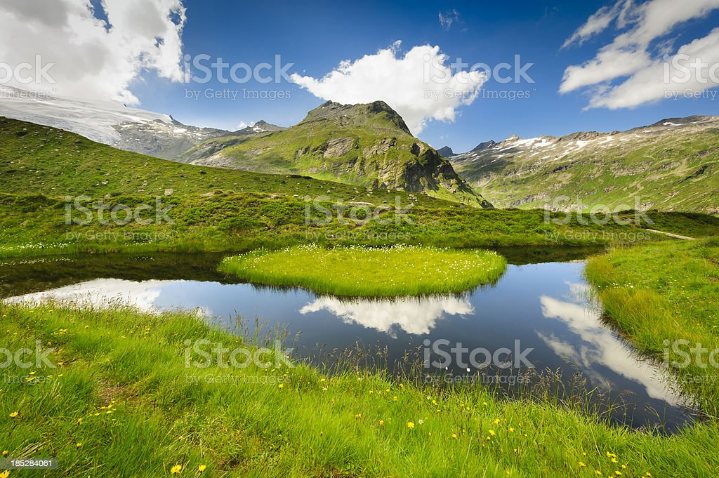 Tirol mountains and lake, Austria stock photo