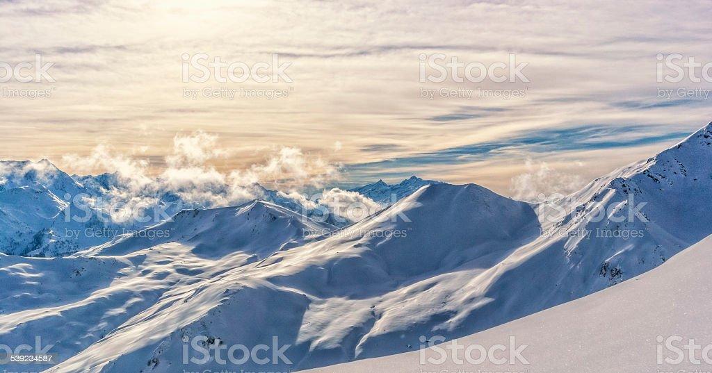 Tiroler Alpes vista en Austria foto de stock libre de derechos
