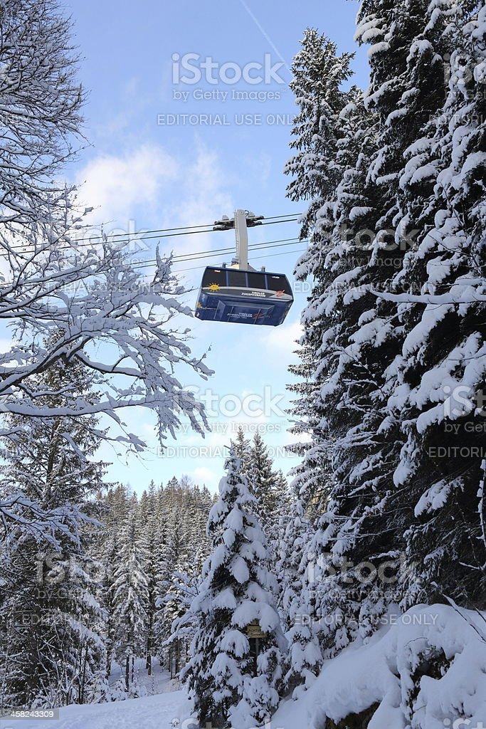 Tiroler Zugspitzbahn cable car stock photo