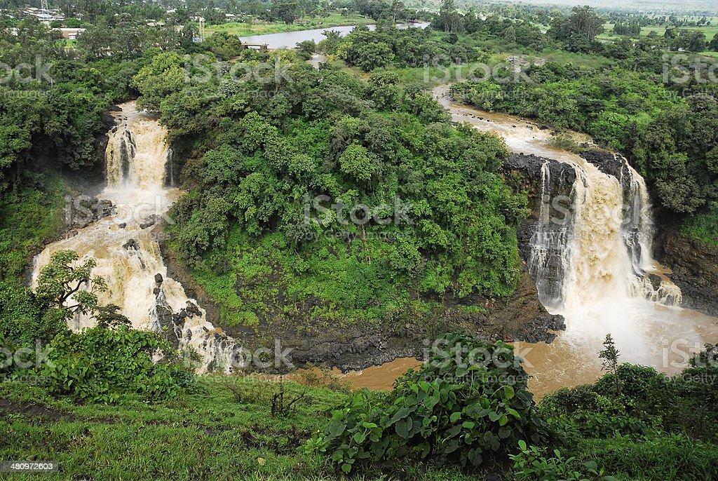 Tiss abay Falls on the Blue Nile river, Ethiopia stock photo
