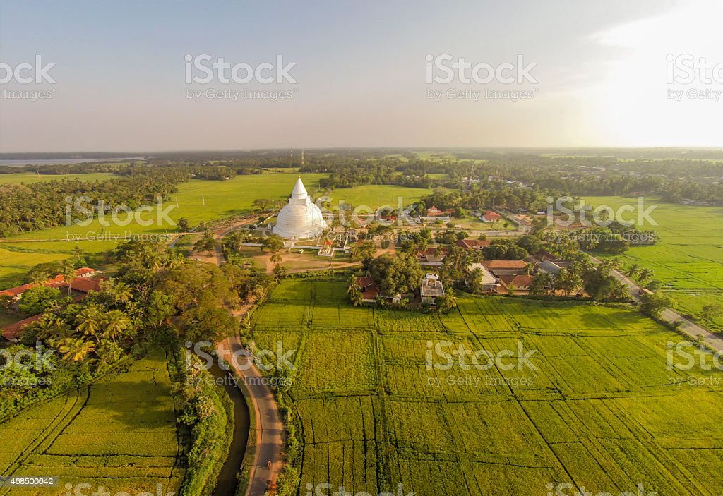 Tissamaharama stupa in Sri Lanka stock photo
